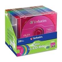 Verbatim 12x 80分5-color CD - RWでスリムケース