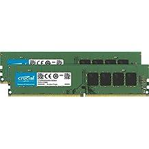 Crucial 32GB Kit (16GB x 2) DDR4 3200 MT/s (PC4-25600) UDIMM 288-Pin Memory - CT2K16G4DFRA32A