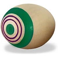 不思議なコマ 木のおもちゃ タマゴこま グリーン