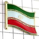新品 ピンバッジ はためく イラン 国旗 デラックス 薄型 キャッチ付き アラビア語 ピンズ