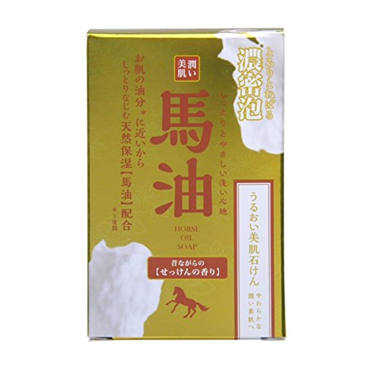 手当刺繍回復潤い美肌 馬油石鹸 100g