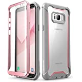 i-Blason Ares Full-Body Rugged Clear Bumper Case with Built-in Screen Protector for Samsung Galaxy S8+ Plus 2017 Release, Pin