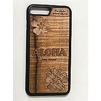 iPhone 8 Plus / 7 Plus カバー 【 ハイビスカス 】 ハワイ スマホ ケース 【 Ho Aloha 】 ハワイアン コアウッド アイフォン ケース
