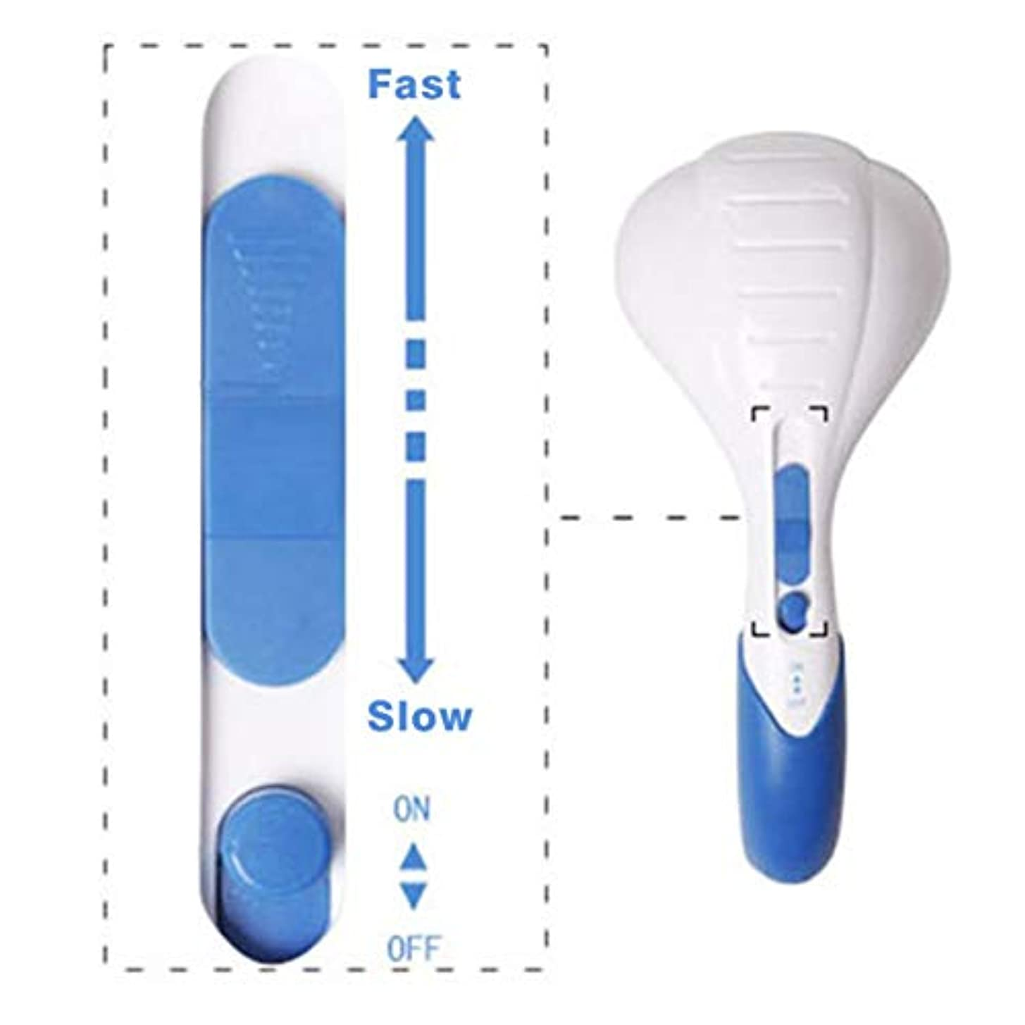 無知災害ソブリケットHousehold Music Relief Massager Lightweight Full Body Handheld Electric Vibrating Neck Back Relax Body Massaging...