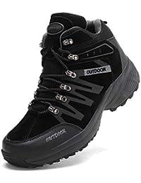 [アッション] ハイキングシューズ メンズ 防水 防滑 トレッキングシューズ 耐磨耗 登山靴 アウトドア キャンプ シューズ 通気性 スエード 透湿 ハイカットスエード スニーカー 大きいサイズ ハイカット