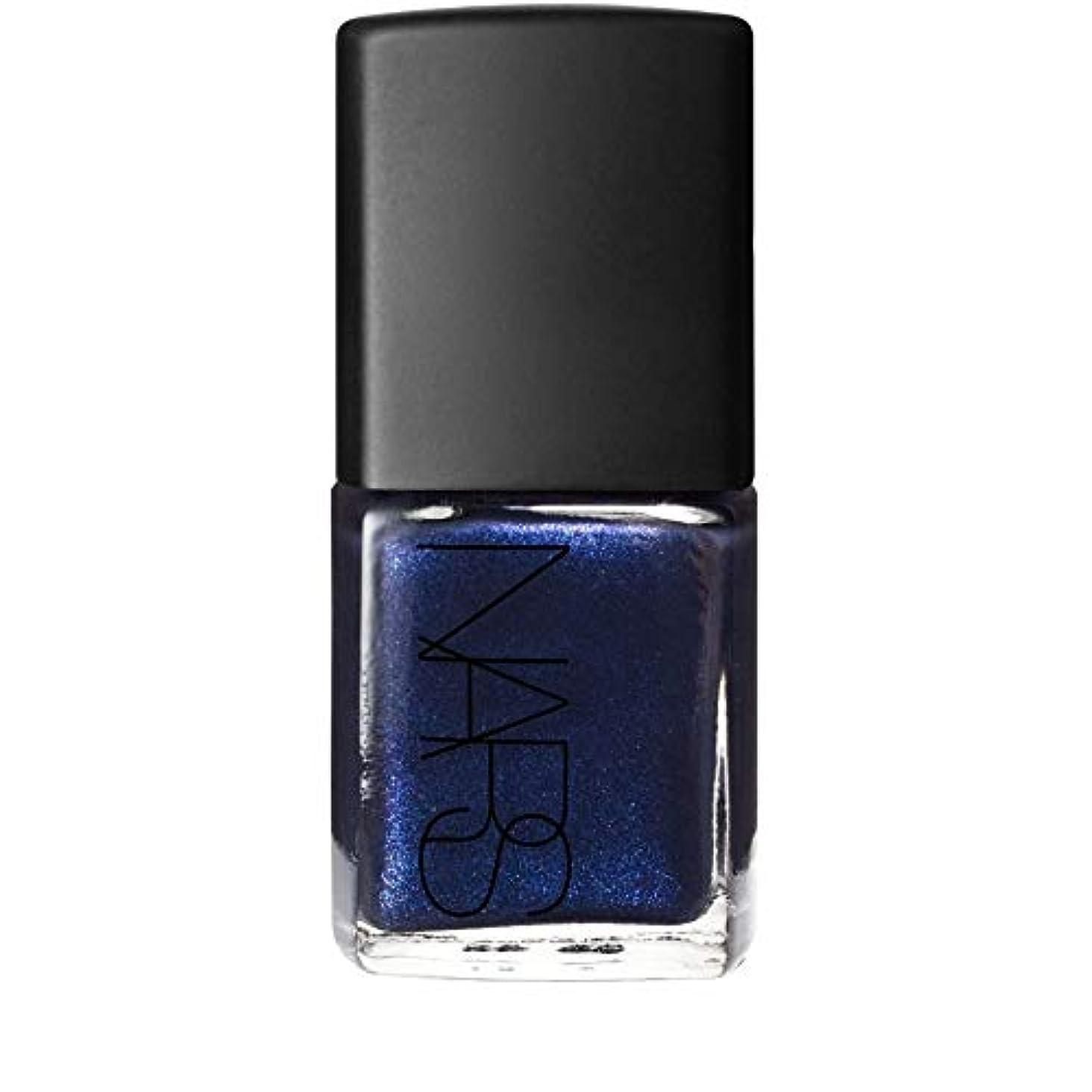 サポート団結囲い[Nars] 青色の夜間飛行の真珠でのNarマニキュアを - Nars Nail Polish in Night Flight Pearl Blue [並行輸入品]