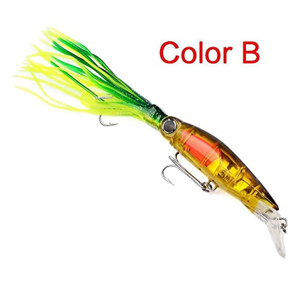 輝く病弱爆発Beautyrain 釣り餌 イカタコ トローリングジグ Vissenルアー 餌コンボAasの プラスチック製の人工 釣具フックタックル