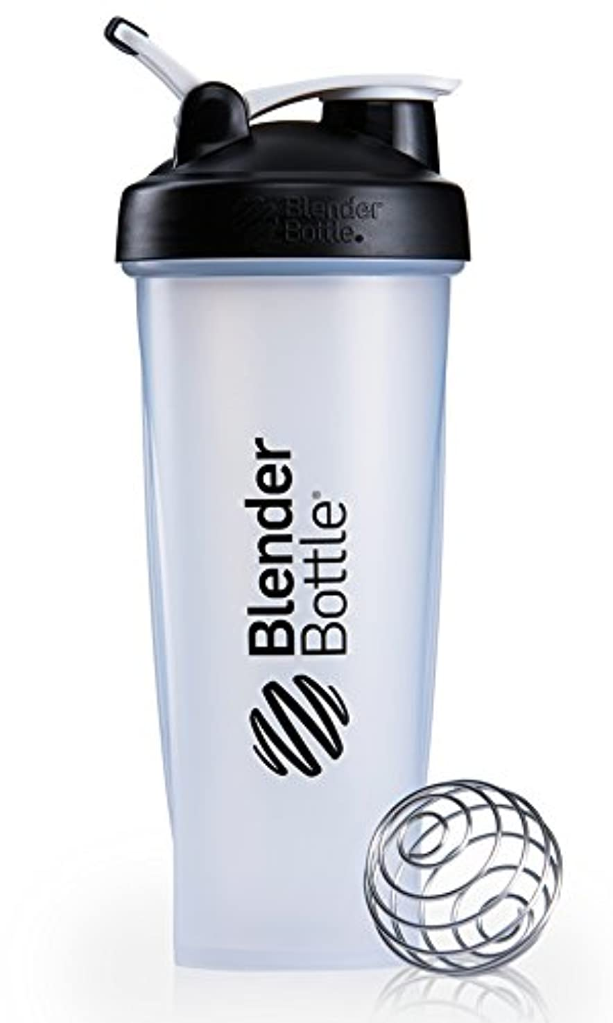 心配するアンソロジー知り合いになるBlenderBottle Classic Loop Top Shaker Bottle, Clear Black, 32 Ounce by Blender Bottle