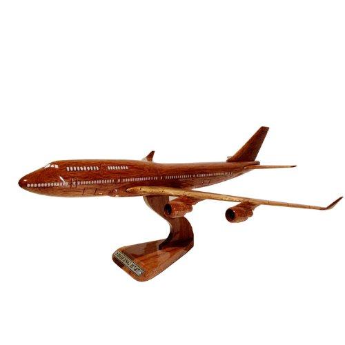 MocPro木製エアプレーンモデル ハンドメイド木製飛行機模型 ボーイング747