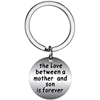 BESPMOSP The Love Between a Mother and Son is Forever Keychain for Women Mother's Day Gift Pendant Keyring Christmas Jewelry