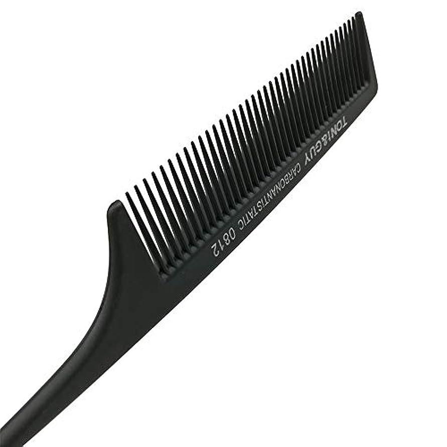 連続的食堂冷笑するくし帯電防止耐熱美容師特別尖った尾くし黒ニードルテール モデリングツール (色 : 黒)