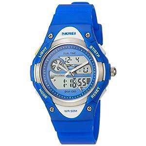 [スクメイ]SKMEI アナデジ腕時計 子供用スタイリッシュモデル ブルー 1055 ボーイズ 【並行輸入品】