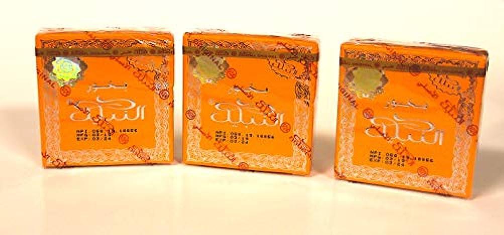 持続的無謀欺くBakhoor Nabeel ( Touch Me ) Incense 40 Gm By Nabeel Perfumes 3 Pack B00F21AYBM