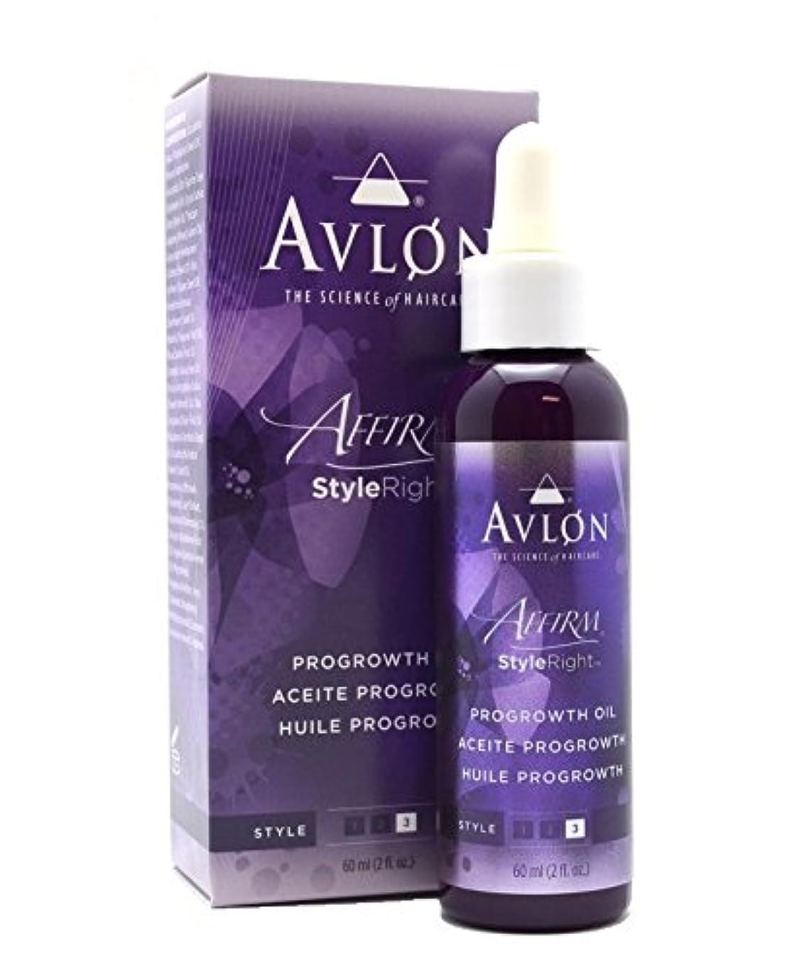 滴下洗うダニAvlon Hair Care アバロンAFF STYLERIGHT PROGROWTH OIL 2 OZ 2オンス