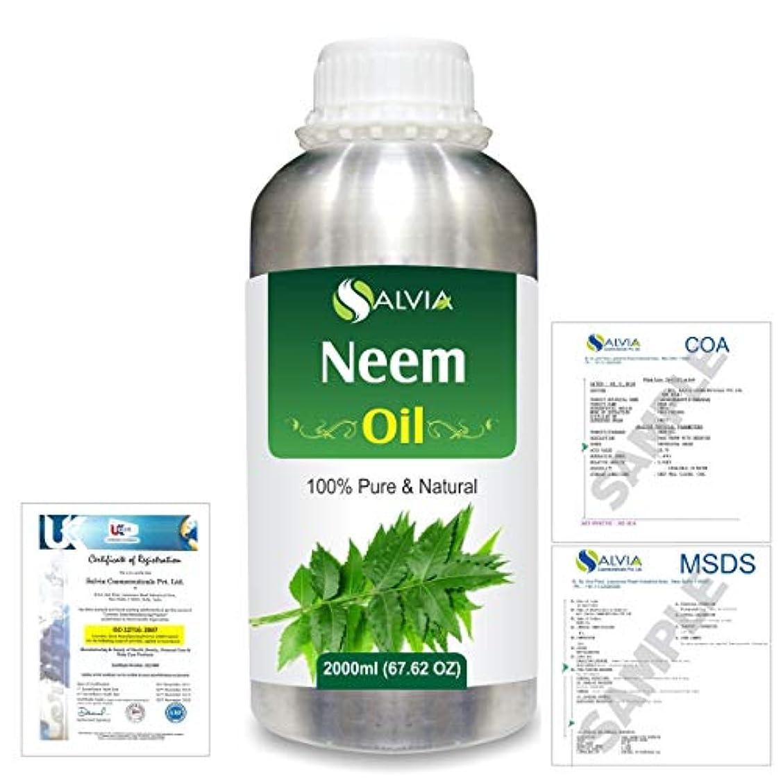 ずんぐりした研磨剤弾性Neem (Azadirachta indica) 100% Natural Pure Essential Oil 2000ml/67 fl.oz.