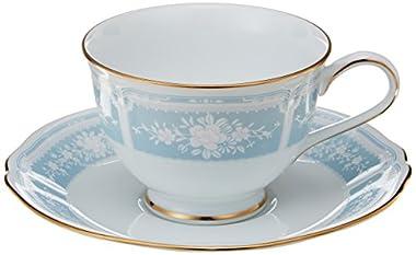 Noritake(ノリタケ) ファインポーセレン レースウッドゴールド ブルー ティー・コーヒー碗皿 Y9587A/1507