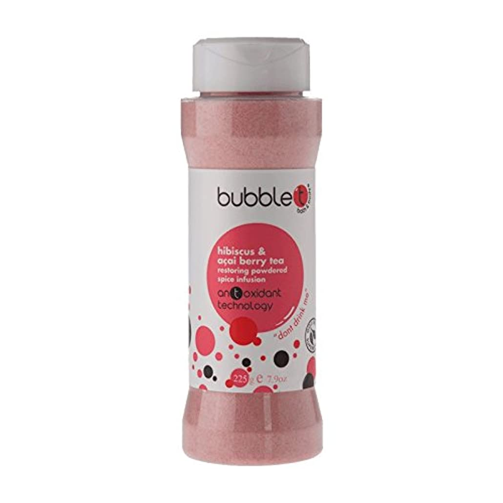 アクセス甘くする入手しますBubble T Bath Spice Infusion Hibiscus & Acai Berry Tea 225g (Pack of 2) - バブルトン風呂スパイス注入ハイビスカス&アサイベリー茶225グラム (x2...