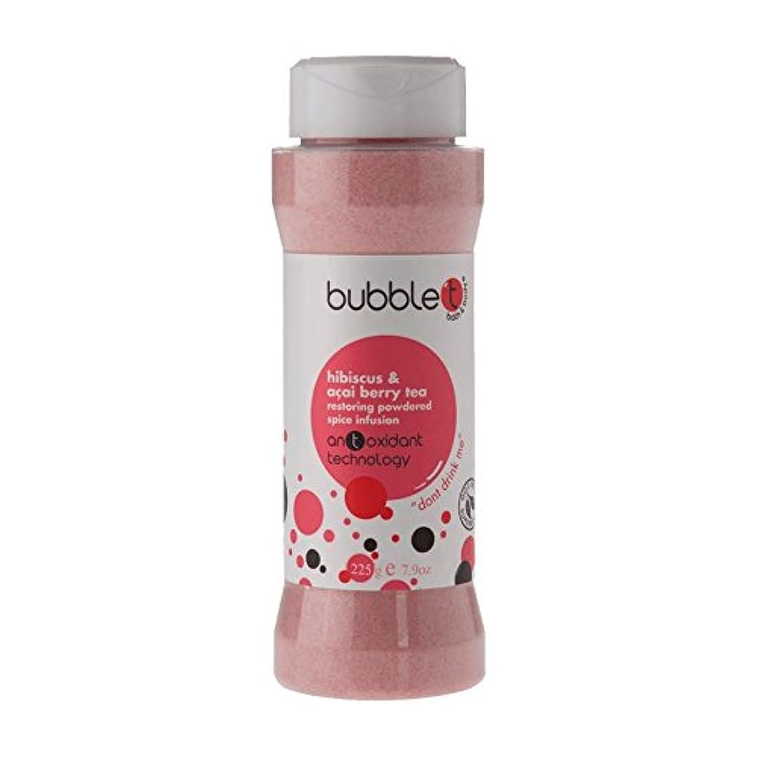 実行可能経度好むBubble T Bath Spice Infusion Hibiscus & Acai Berry Tea 225g (Pack of 6) - バブルトン風呂スパイス注入ハイビスカス&アサイベリー茶225グラム (x6...