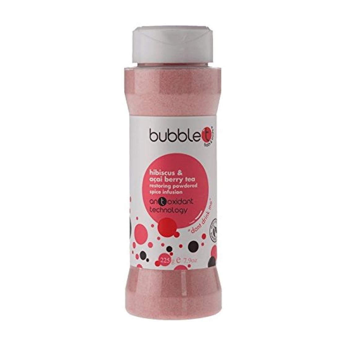 玉ねぎ債務雄弁Bubble T Bath Spice Infusion Hibiscus & Acai Berry Tea 225g (Pack of 6) - バブルトン風呂スパイス注入ハイビスカス&アサイベリー茶225グラム (x6...