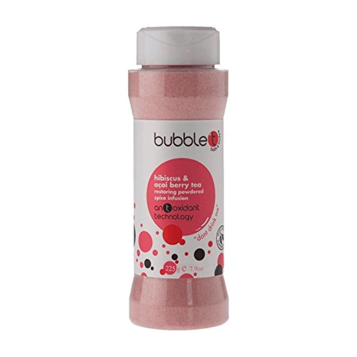 外向きエコークスクスBubble T Bath Spice Infusion Hibiscus & Acai Berry Tea 225g (Pack of 2) - バブルトン風呂スパイス注入ハイビスカス&アサイベリー茶225グラム (x2...