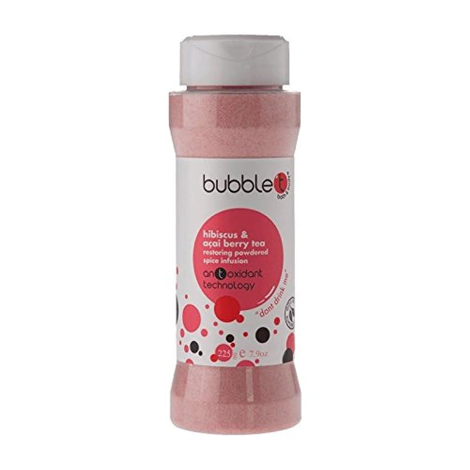 反対微弱退屈させるBubble T Bath Spice Infusion Hibiscus & Acai Berry Tea 225g (Pack of 6) - バブルトン風呂スパイス注入ハイビスカス&アサイベリー茶225グラム (x6...
