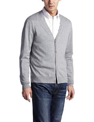 Supima V-neck Cardigan 1227-105-0406: Grey