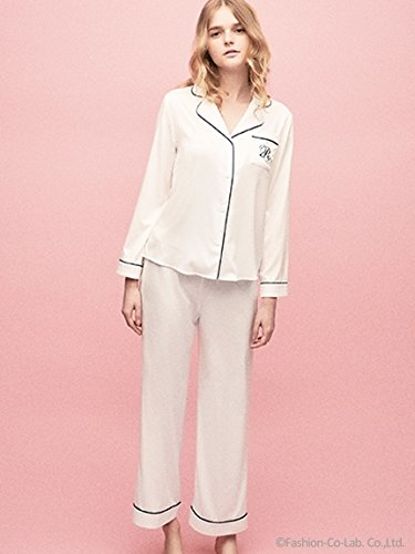 Ravijour(ラヴィジュール)SILKY SATIN SLEEP PANTS WHITE FREE
