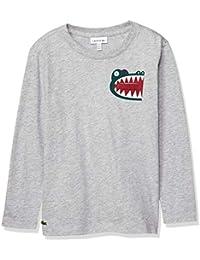 [ラコステ] TEE SHIRTS BOYSプリント&ポケットロングスリーブTシャツ