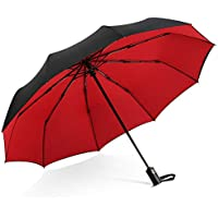 DORRISO Men Women Automatic Open/Close Folding Umbrella Extra Strong Windproof Portable Compact Travel Business Sun Umbrella Rain Umbrella
