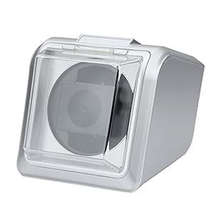[ウォッチワインダー]Watch winder 信頼のマブチモーター シングルタイプ WATCH WINDER KA078-013 S 銀