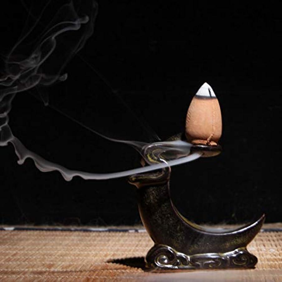 絶え間ないオーバーコート服WEEFORT ミニセラミック香炉 逆流ブッダ リトルブッダ お香ホルダー 仏教 サンダルウッド コーン 香炉 ホーム用 OneSize b8-e26d-a-18537-3c931-oNesI