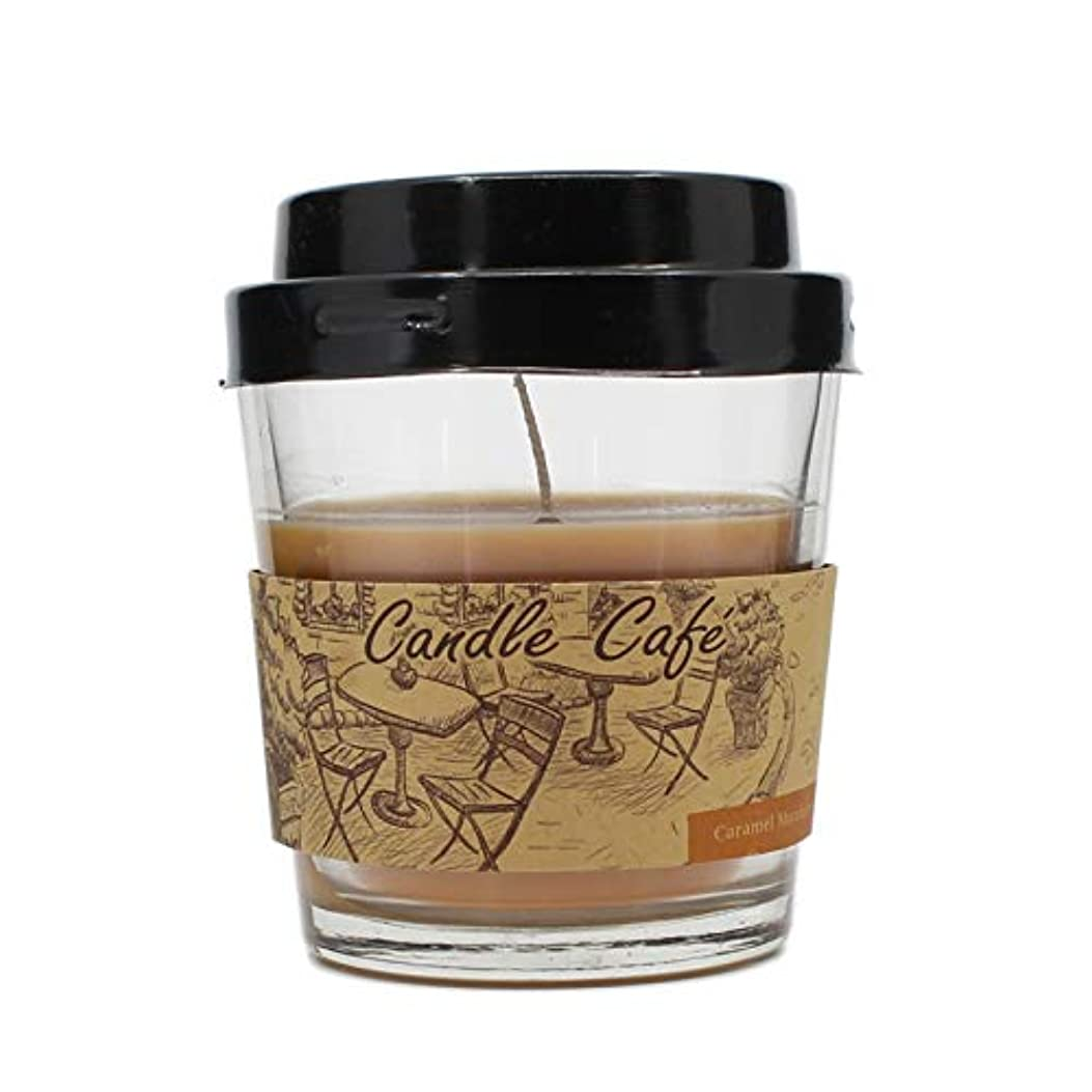 累積首尾一貫した成長コーヒーカップCandle Glass Jar Scented Candle ベージュ