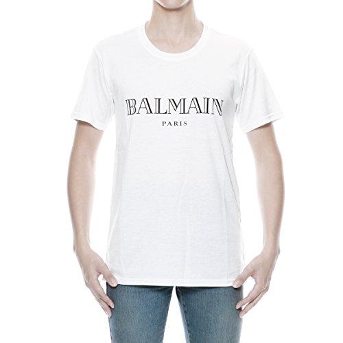 (バルマン オム) BALMAIN HOMME 半袖Tシャツ ホワイト S7H8601 I312 100 [並行輸入品]