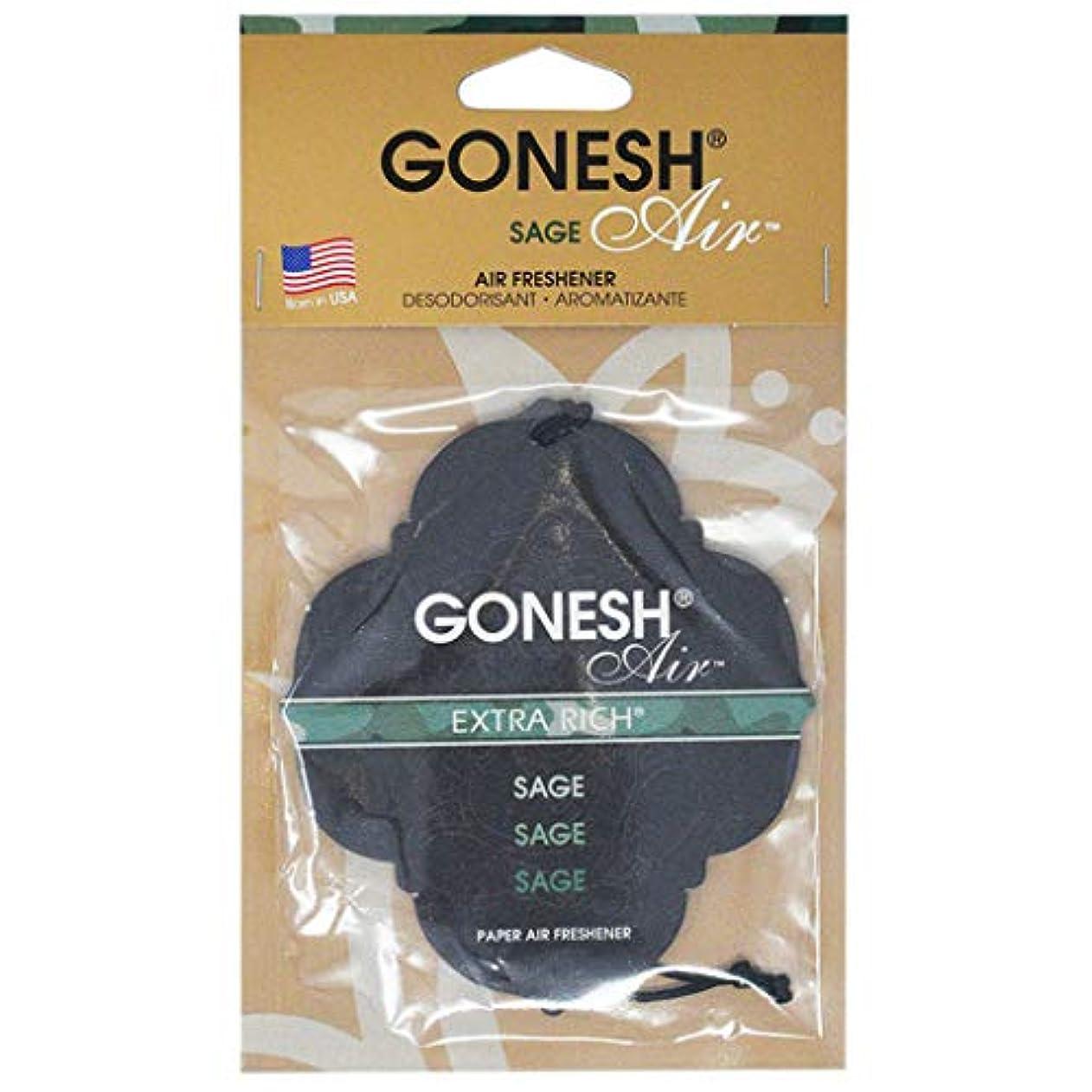 ショッピングセンター賞賛する治療GONESH(ガーネッシュ) GONESHペ-パ-エアフレッシュナ- SAGE 96mm×3mm×170mm