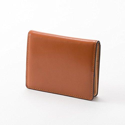 本革 小銭入れ コードバン コインケース 小さい財布 カードケース ボックス型 レザー 馬革 メンズ レディース (ブラウン)