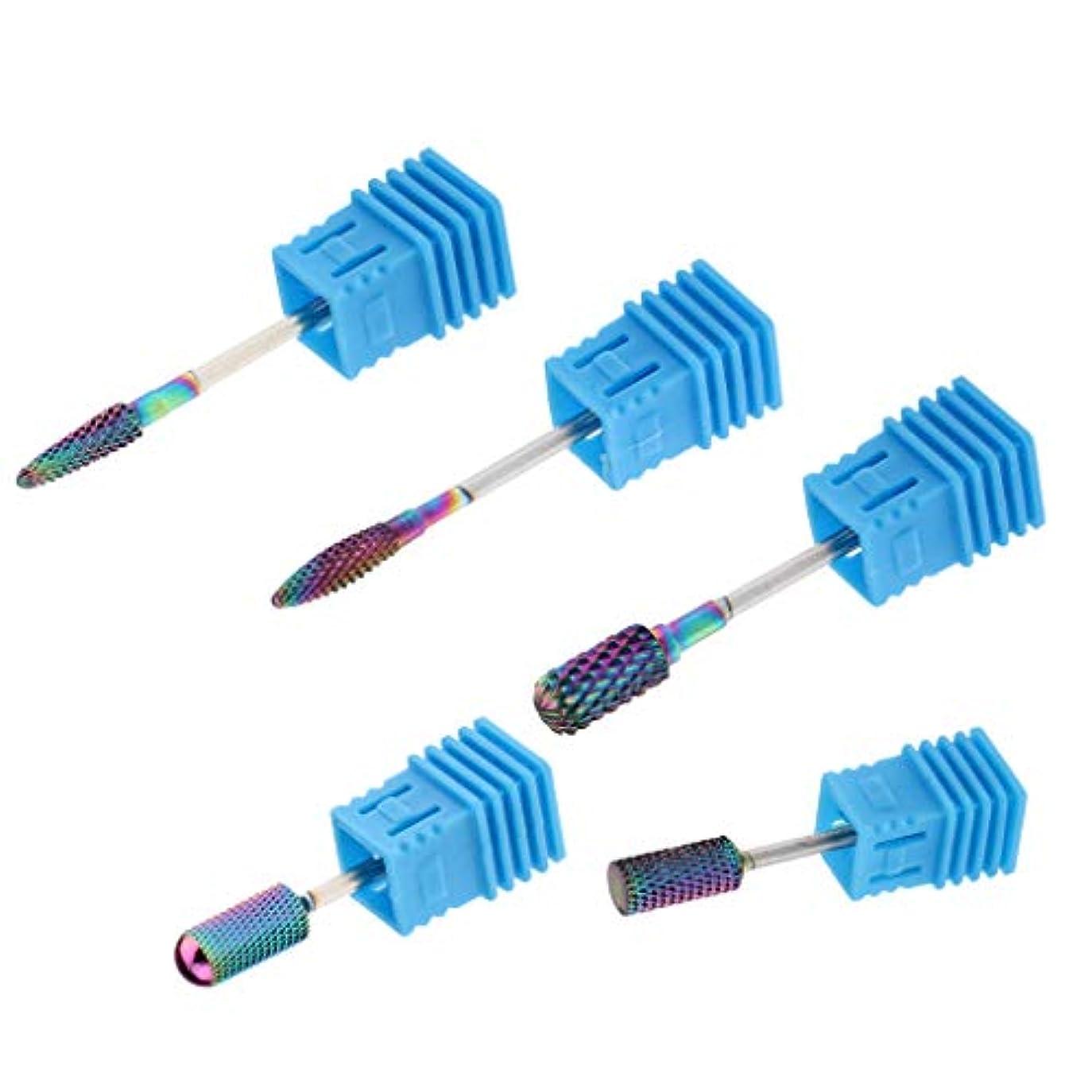 緩む粗い減衰SM SunniMix 陶磁器ドリルビット ネイルドリルビット ロータリーファイル 研削ネイル 切削工具 耐摩耗性 5個入