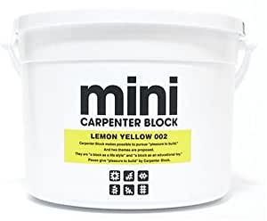 CARPENTER BLOCK mini SINGLE COLOR 64PIECES /LEMON YELLOW 002