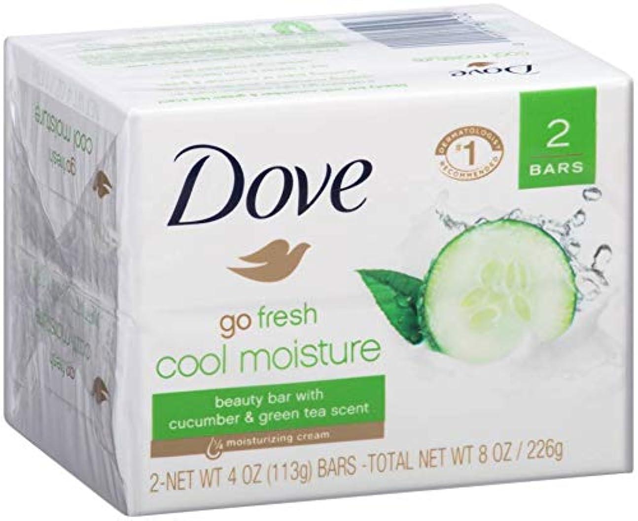 フィクション望ましいスカウトDove フレッシュクールモイスチャー美容Bars-キュウリ、緑茶の香り、2バー(24パック)を行きます