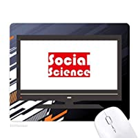 コースと主要な社会科学・レッド ノンスリップラバーマウスパッドはコンピュータゲームのオフィス
