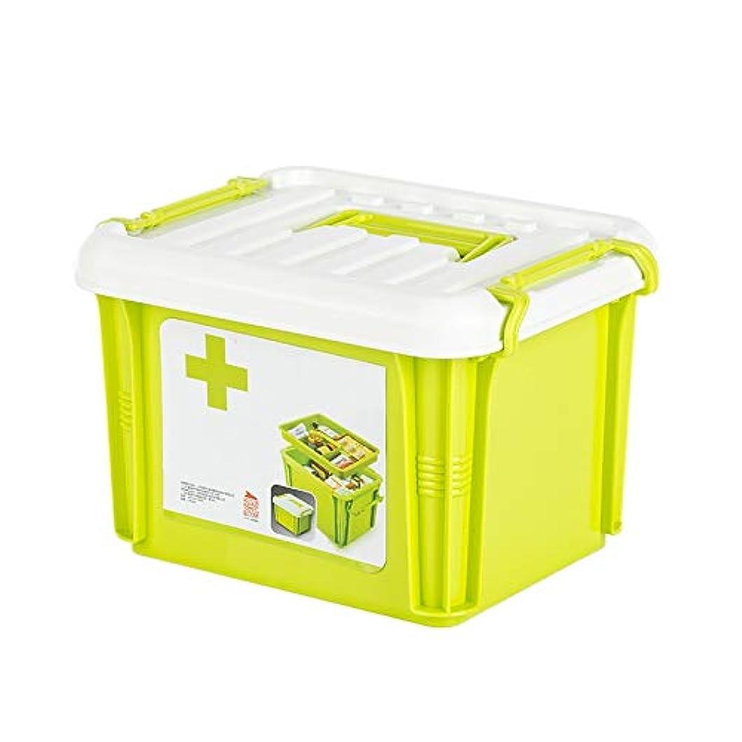 書き出す匹敵します仲間、同僚LWBUKK 家庭用大型医療キット、多層プラスチック製救急箱、医療用収納ボックス 医療箱 (Color : Green, Size : 34.5cm×23cm)