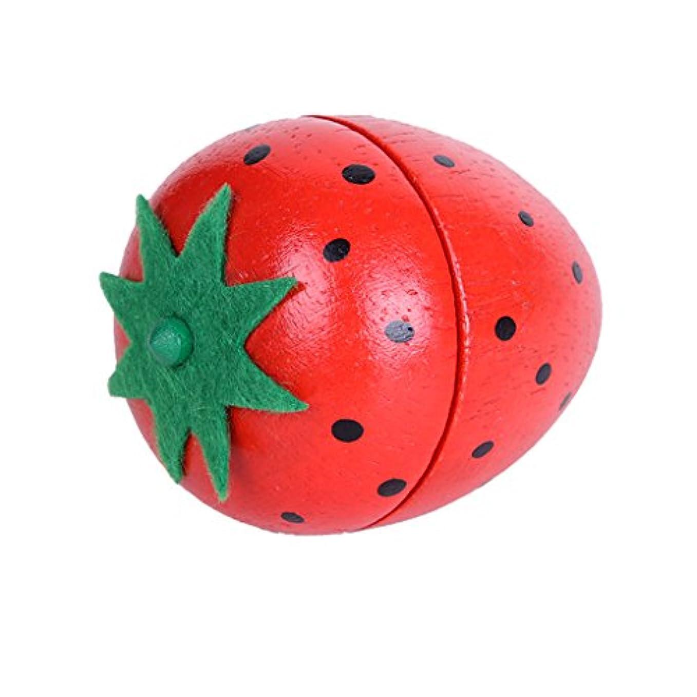計算する旅財政食べ物モデル 磁気接続 子供 ごっこ遊び ふり遊び おもちゃ 全3パタン - イチゴ