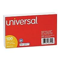 ユニバーサル47210Ruledインデックスカード、3x 5、ホワイト、100/パック