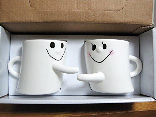 トゥルー・ハート 仲良きことは美しきかな 【ペア コーヒーカップ】手をつなごう マグカップ/幸せがいっぱいたまる 2個セット TZAK-103