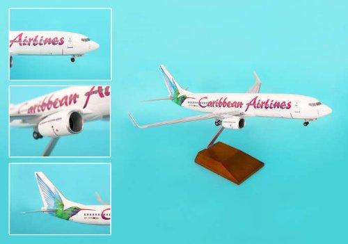 1: 100 スカイマークスSuprem Caribbean 航空 ボーイング 737-800 with Landing Gear and Wood Display Stand (並行輸入)