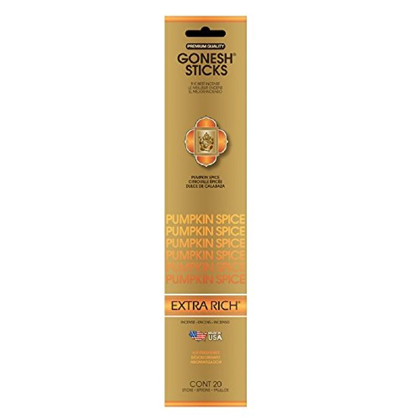 過ち設計図摂氏度Gonesh Incense Sticks Extra RichコレクションPumpkin Spice、20ピース