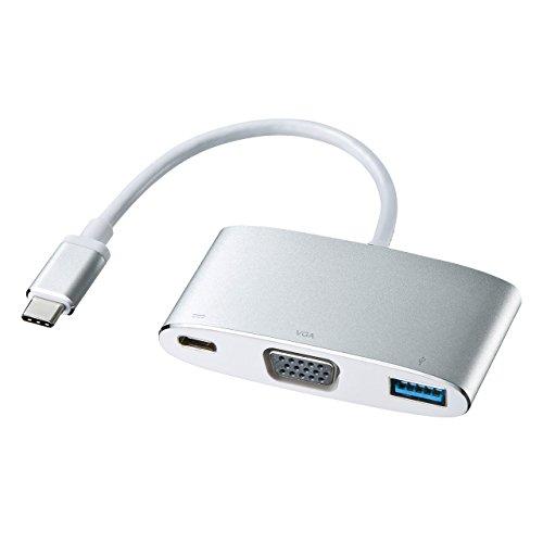 サンワサプライ USB Type C-VGAマルチ変換アダプタプラス AD-ALCMVP01 1個