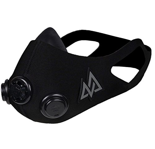 Training mask トレーニングマスク エレベーションマスク 低酸素 高地トレーニング 肺活量 (Blackout, S)