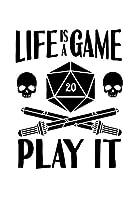 Notizbuch: Kalender 2020 Gamer Wuerfel Rpg Larp Tabletop Motivation Geschenk 120 Seiten, 6X9 (Ca. A5), Jahres-, Monats-, Wochen- & Tages-Planer
