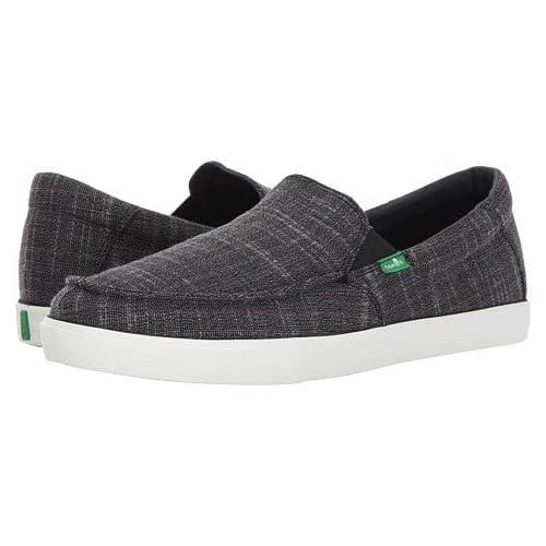 (サヌーク)SANUK メンズスニーカー・靴 Sideline Linen Black 11.5 29.5cm D - Medium [並行輸入品]