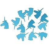 amleso キラキラ ユニコーン テーブル スキャッター 紙吹雪 パーティー装飾 ベビーシャワー 装飾 DIY 青, 説明したように